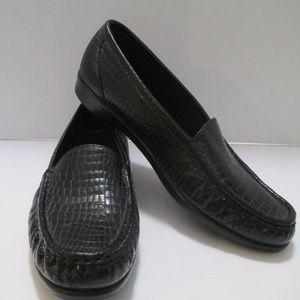 SAS Black Crock Loafers Size 8 1/2